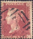 1861 1d Rose-red SG42 Plate 50 'QC'